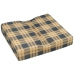 WC4420 Wheelchair Cushion with Plaid Polycotton Zippered Cover