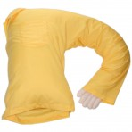 Boyfriend Pillow Yellow - Original One Armed Man for Single Women - Unique Funny Novelty Idea The Companion Snuggle Pillow