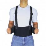 Back Brace - Industrial Back Support With Shoulder Straps - Large