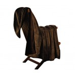 Silverback Throw Blanket For Couch Faux Fur Throws Amber Brown Faux Fur