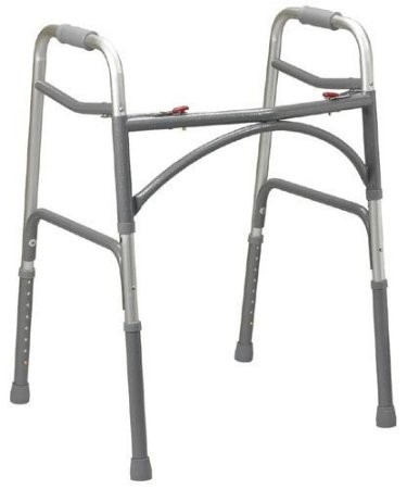 Zenith Medical Supplies Double-Button Ex-Wide Junior Folding Walker (Bariatric)