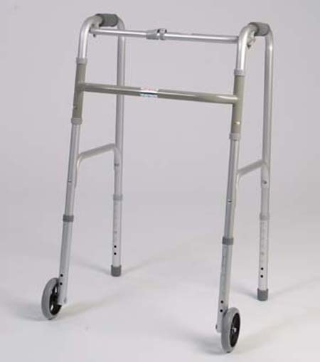 ALEX ORTHOPEDIC Standard Folding Walker With Wheels