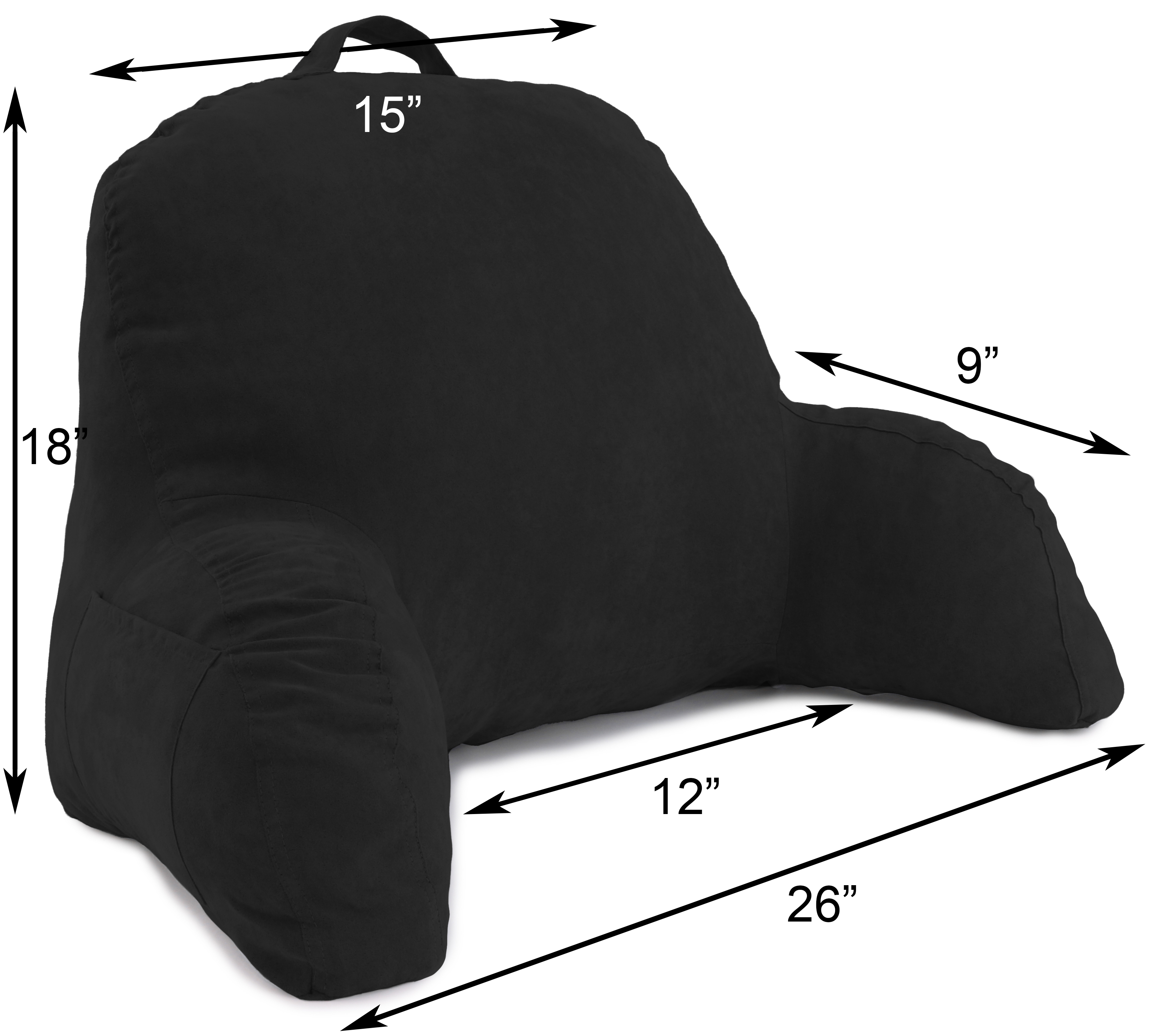 Microsuede-Bed-Rest-Reading-and-Bed-Rest-Lounger-Bed-Pillow thumbnail 5