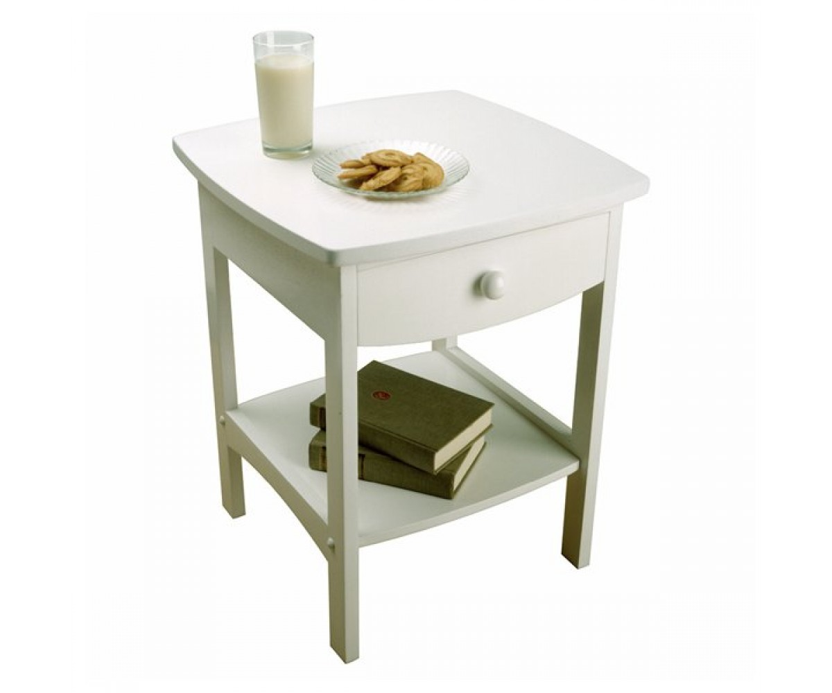 Winsome wood curved end table night stand