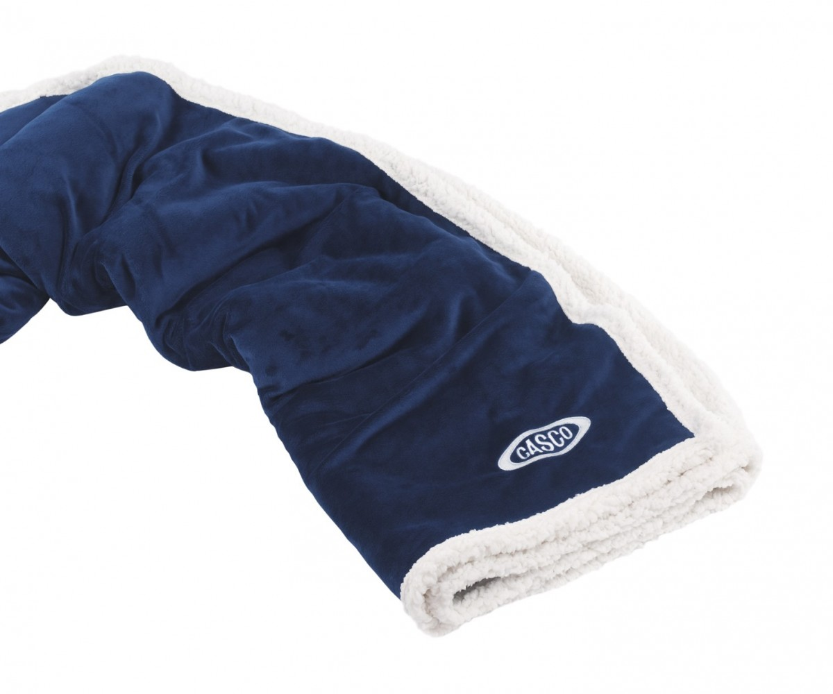 Country Lambswool Throw Navy