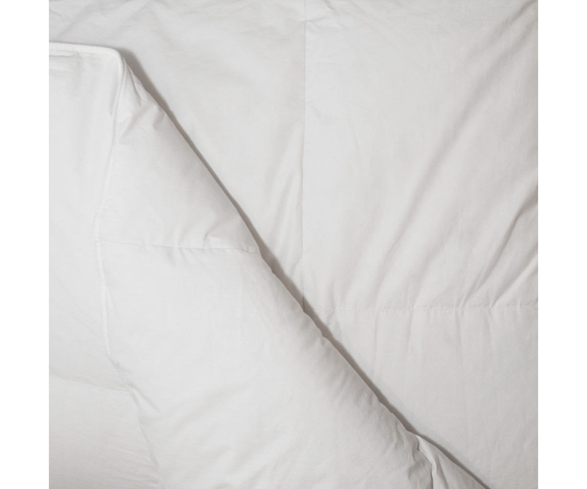 235TC Fall Weight White Goose Down Comforter - Twin: 63 x 88