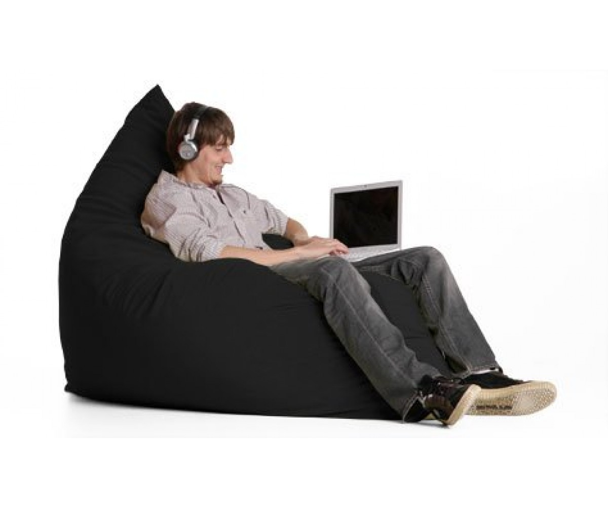 Jaxx Sac Beanbag Chair - Black