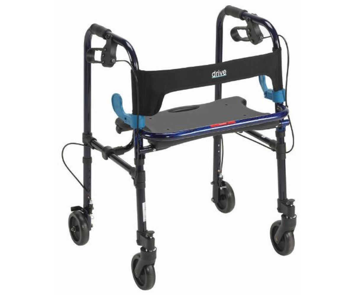 """Deluxe Clever Lite Rollator Walker with 5 """" Casters"""