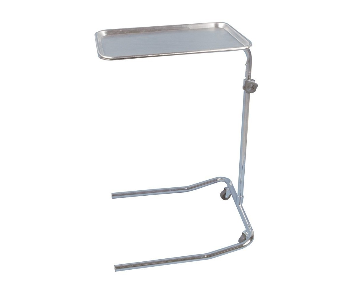 Drive Medical Single Post Mayo Instrument Stand Chrome