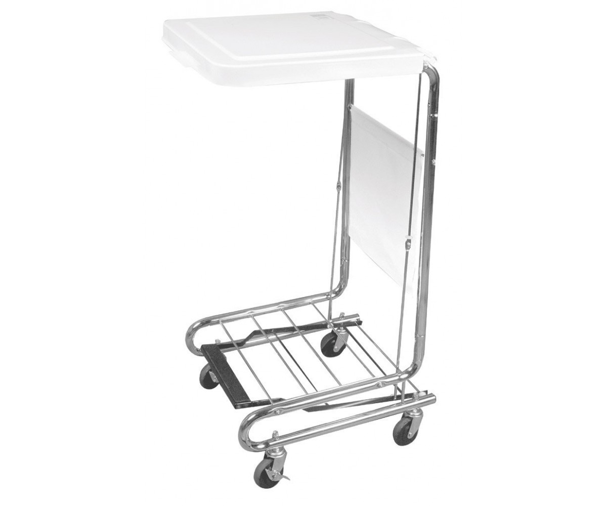 Drive Medical Gal Support Hamper Stand, Chrome