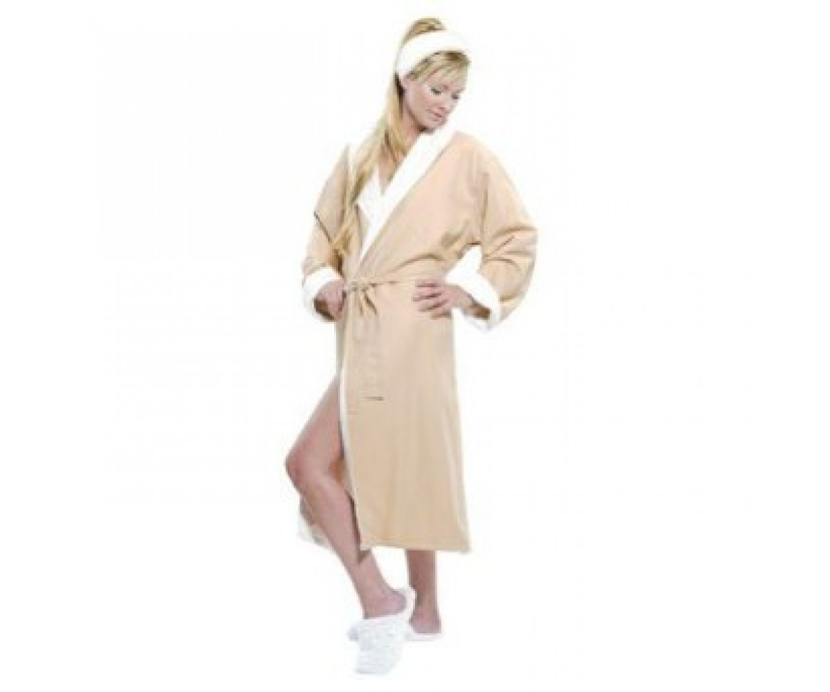 Microfiber - Lined Shawl Spa Robe
