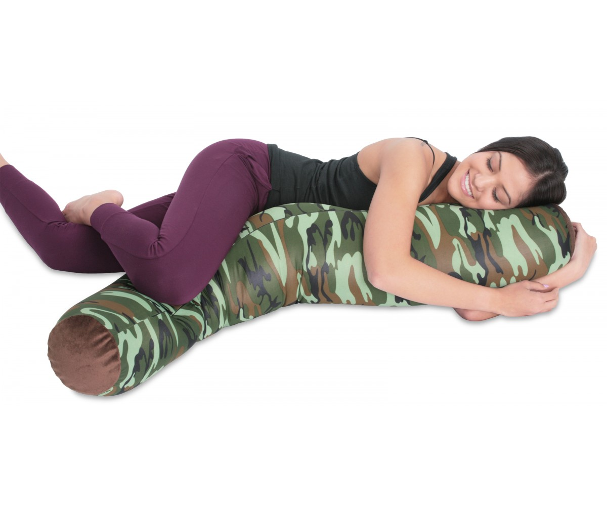 Camouflage Body Pillow - Microbead Squish