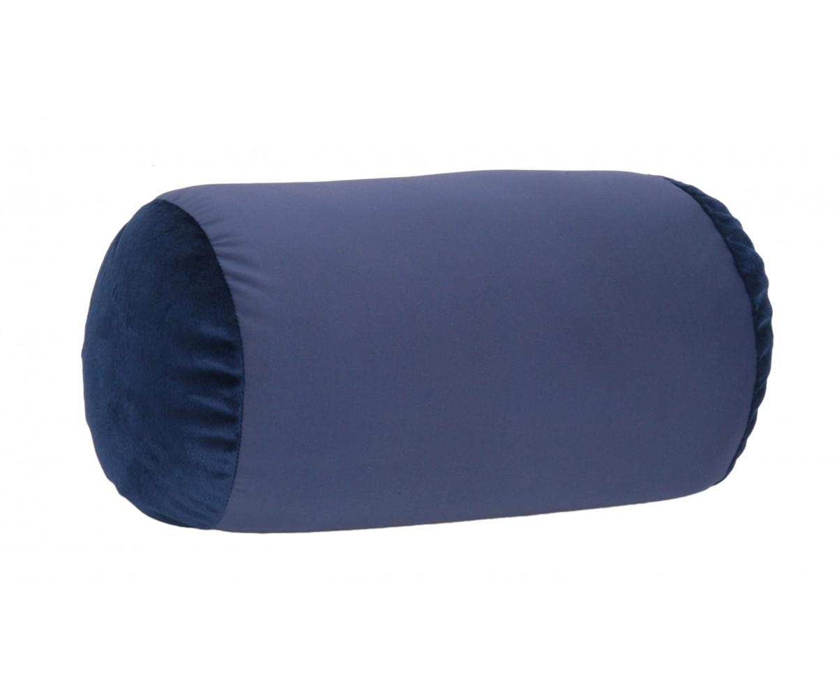 Dark Blue - Microbead Pillow Neck Roll Bolster Pillows