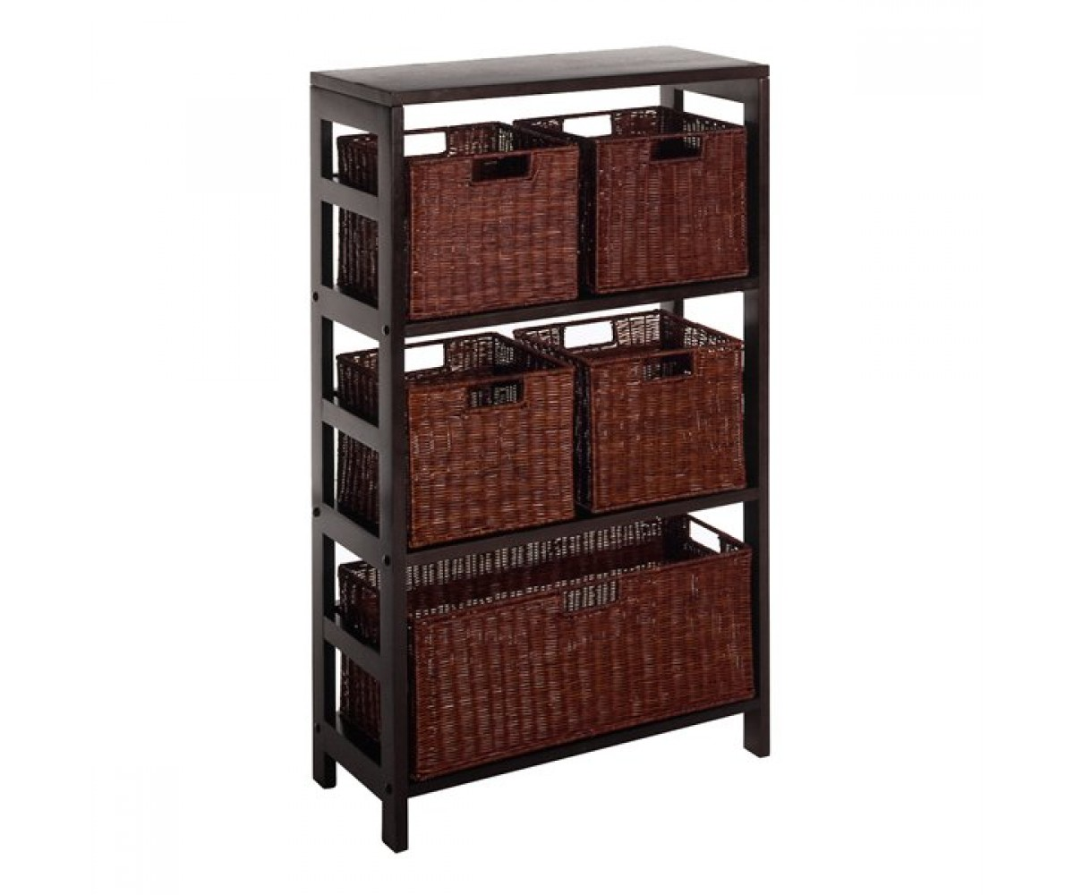 Winsome Wood 92625 Leo Decorative Storage Cabinet With Baskets