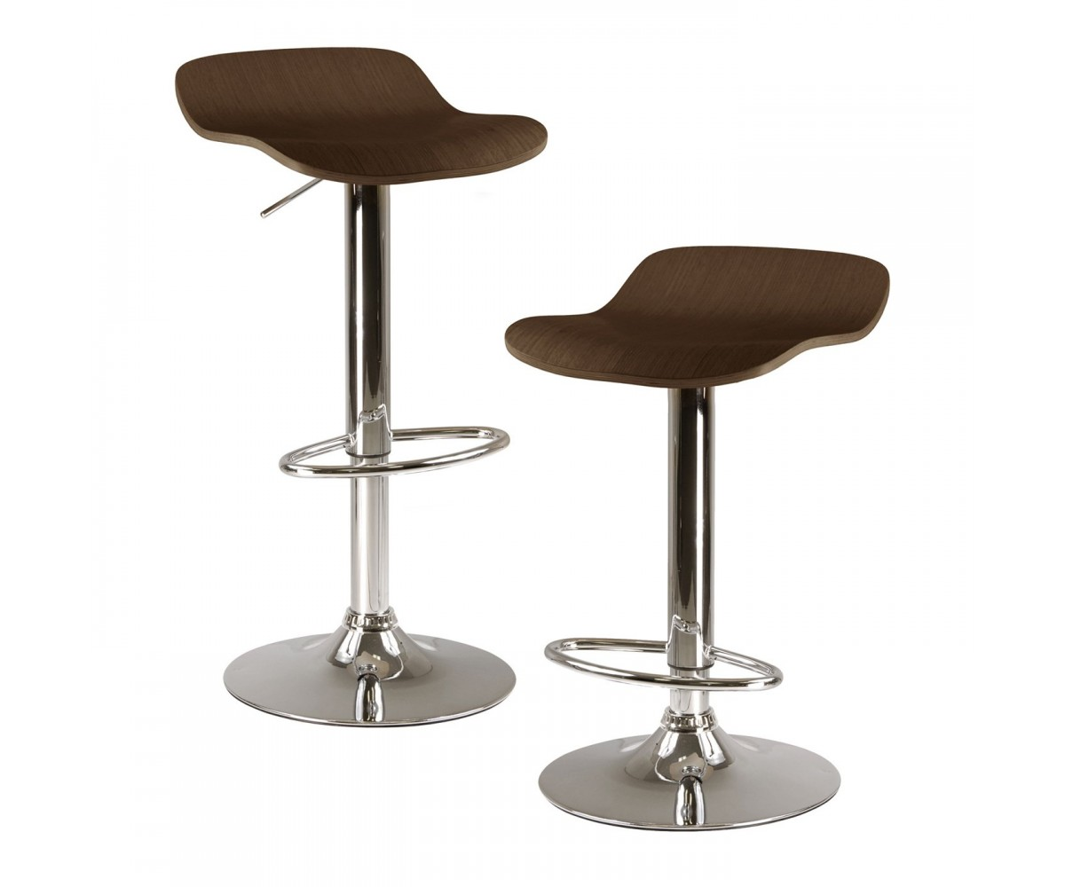 Winsome Wood Kallie Air Lift Adjustable Bar Stool Set Of 2