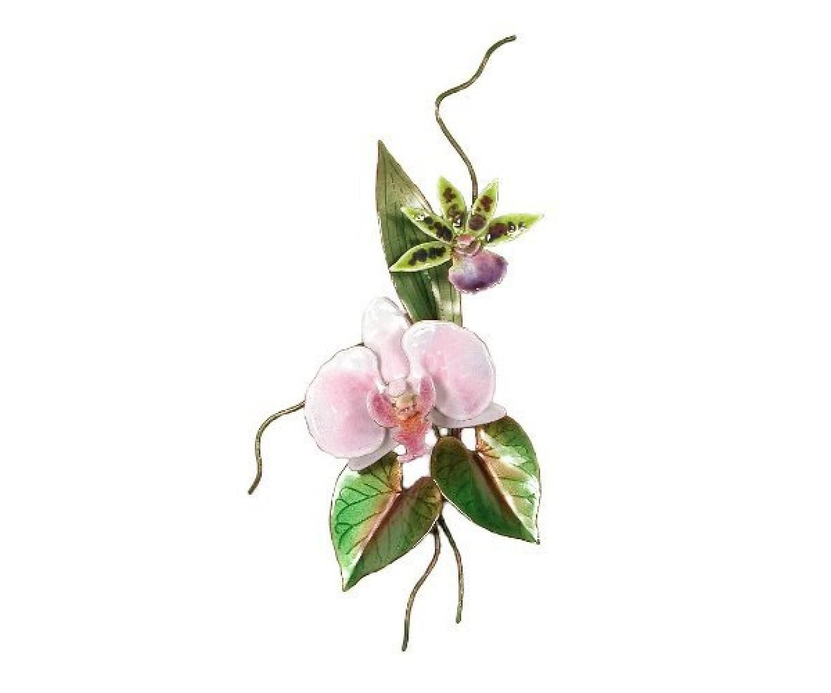 Bovano Enamel Wall Art Home Orchid Pink Moth Flower