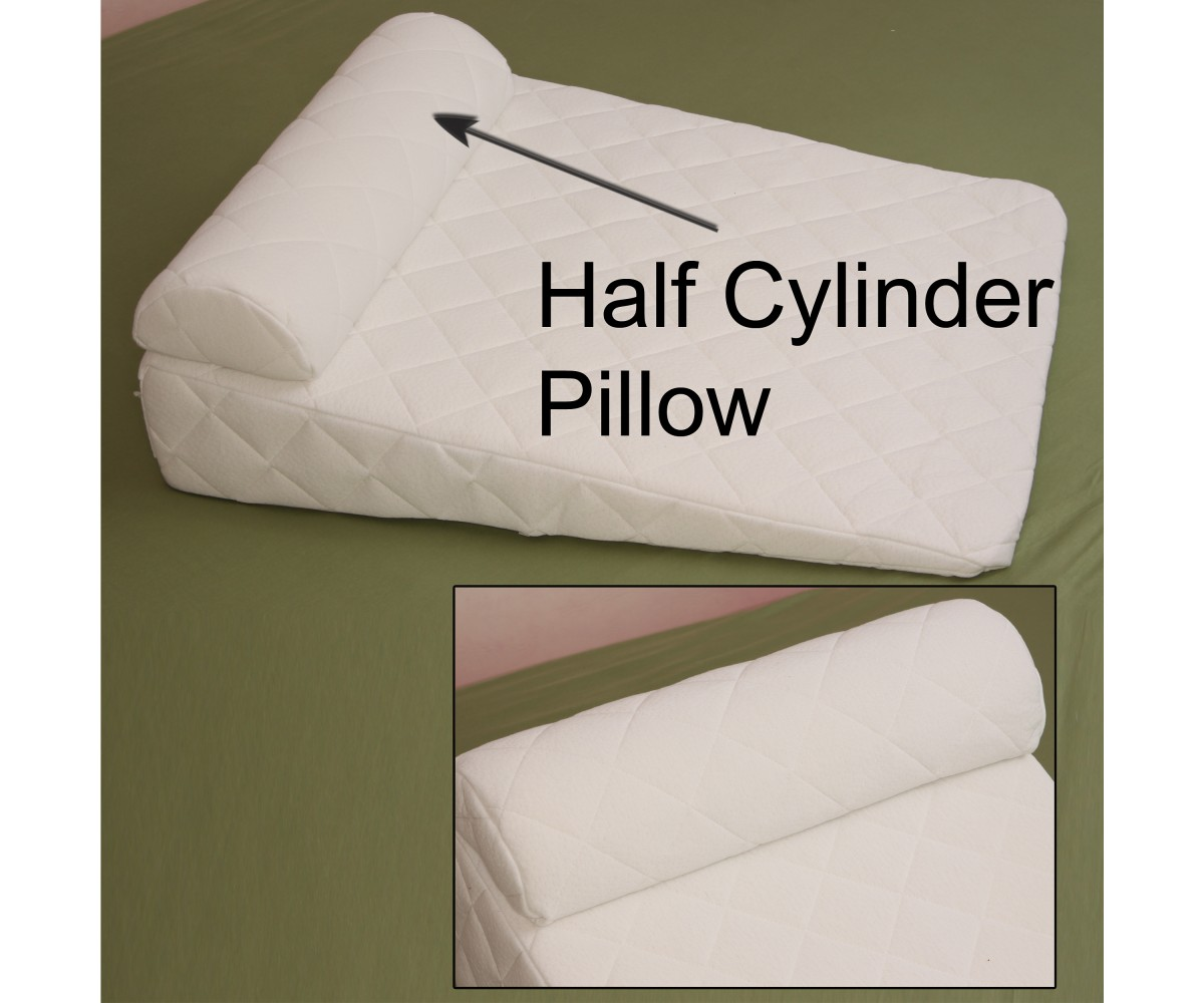 Bolster Half Moon - Half Cylinder