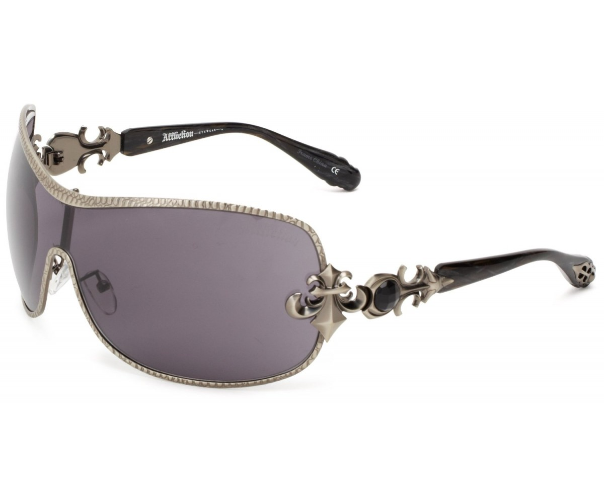 Affliction Sunglasses Fiona Shield Sunglasses Gunmetal