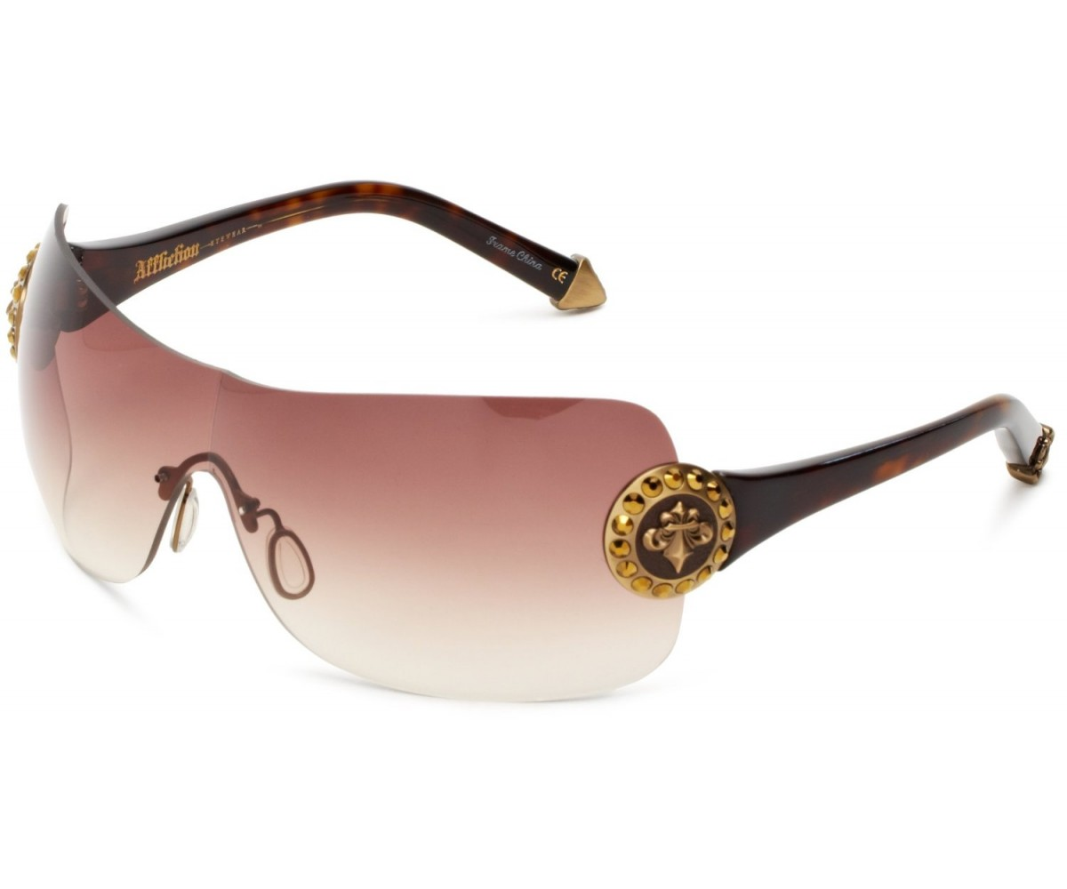 Affliction Sunglasses Griffin Brown & Gold