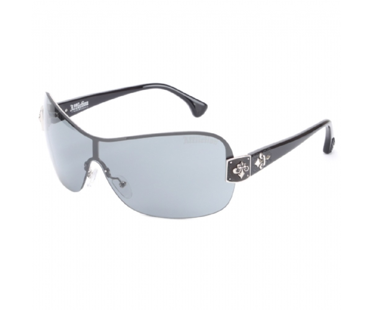 Affliction Sunglasses Moxie Shield Sunglasses Black/Silver