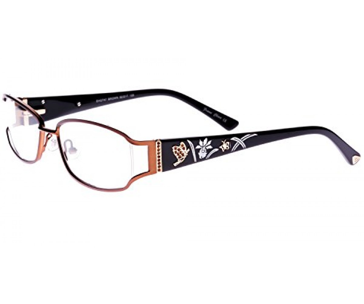 Ed Hardy Womens EHO-747 Butterflies Eyeglasses - Brown
