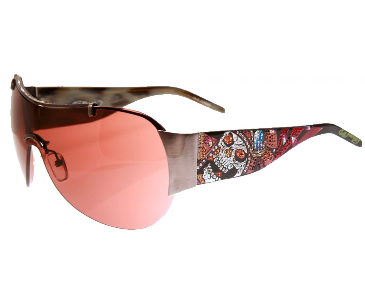 EHS-003 Japan Sunglasses - Gun/Burgundy