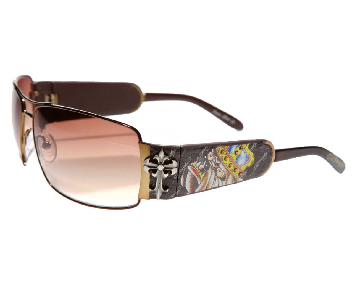 EHS-017 King of Bests Dog Sunglasses - Cocoa/Brown