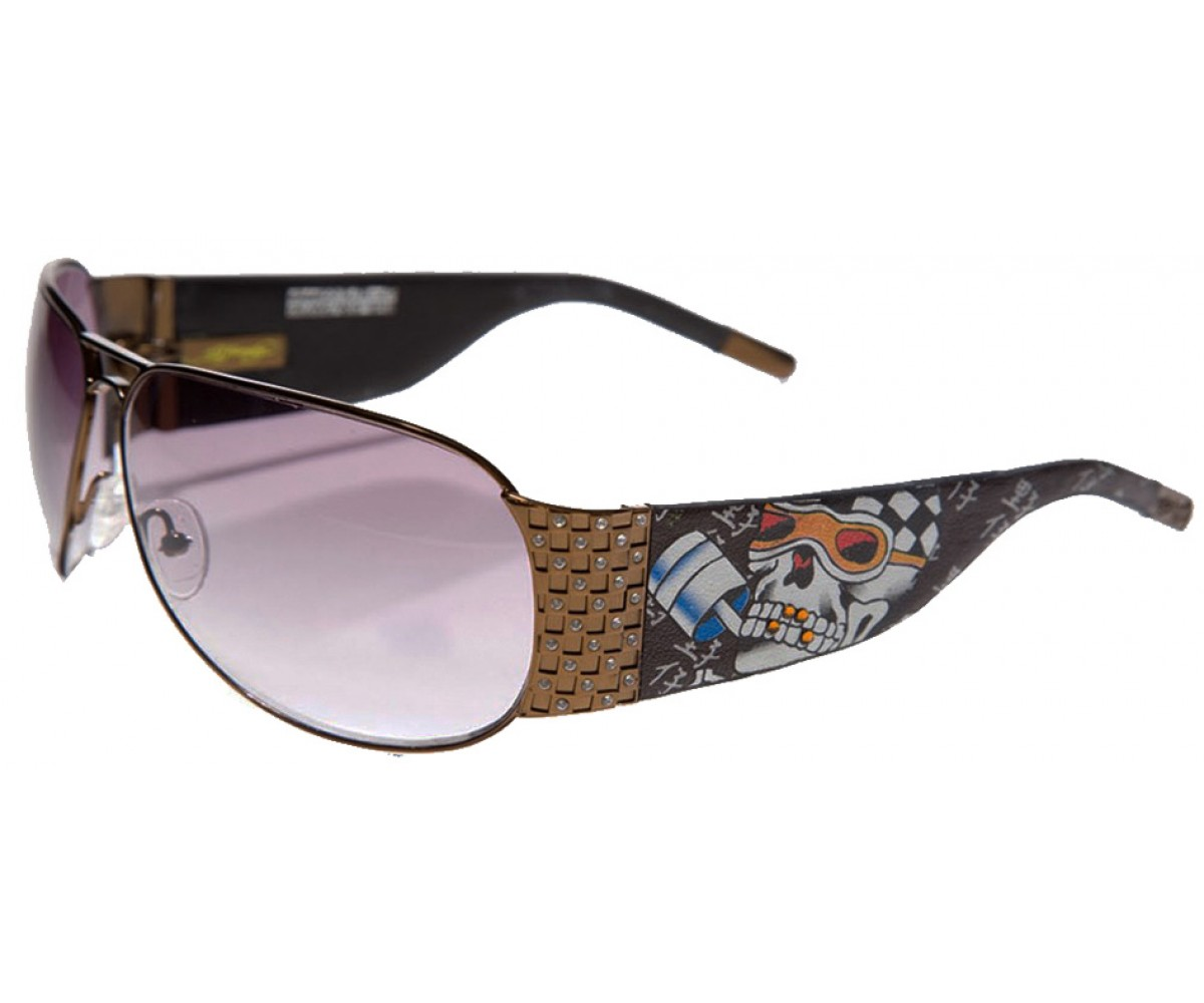 EHS-019 Speed Kills Sunglasses - Cocoa/Brown