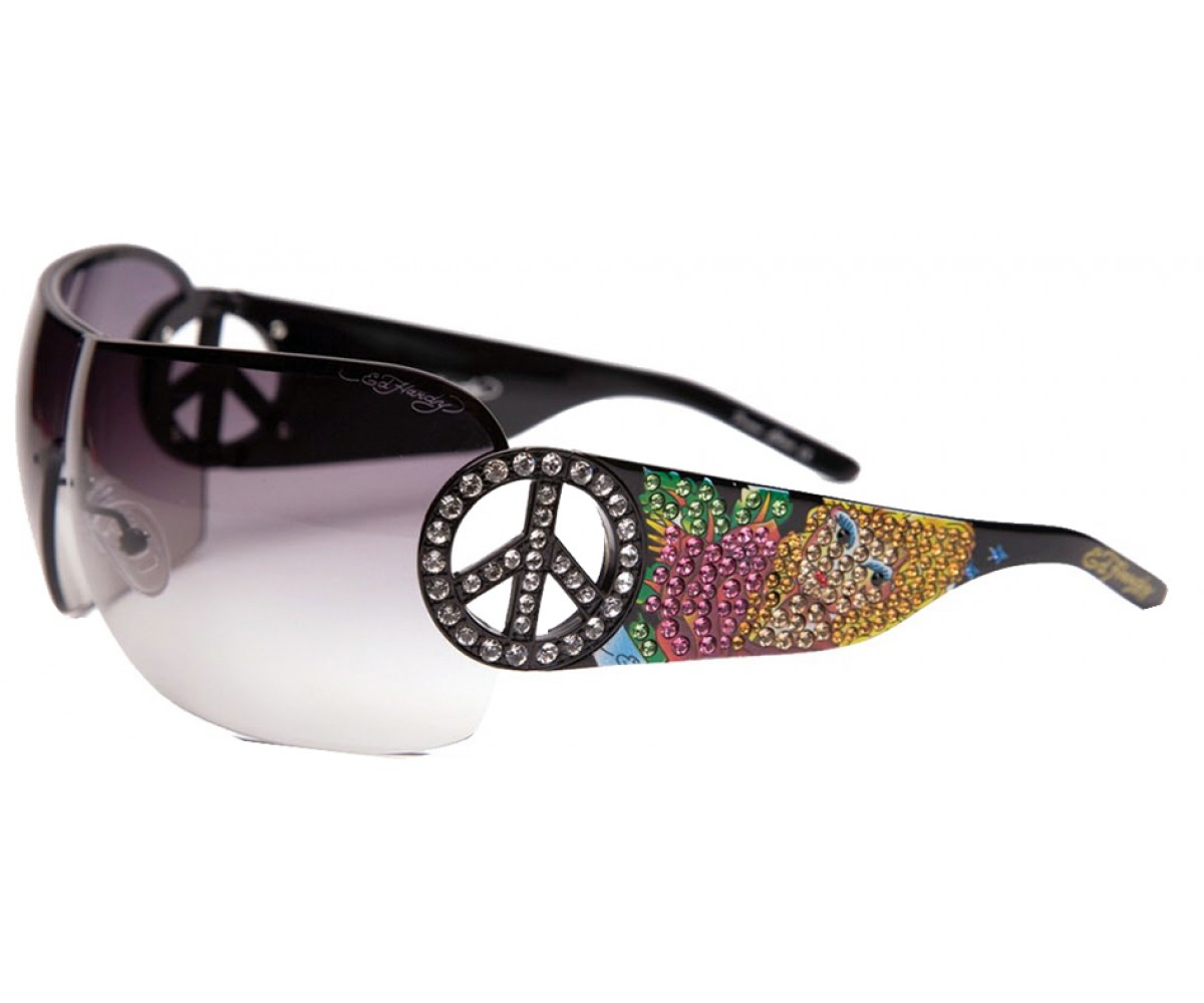 EHS-027 Pin UP2 Graphics Sunglasses - Black