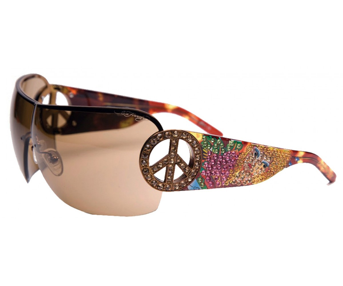 EHS-027 Pin UP2 Graphics Sunglasses - Tortoise/Brown