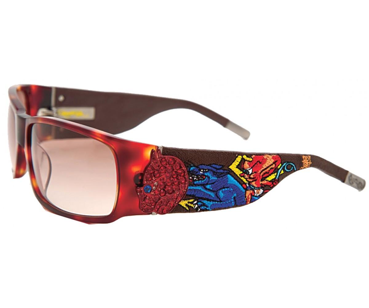 EHS-036 Devil on Panther Flat Sunglasses - Tortoise/Brown