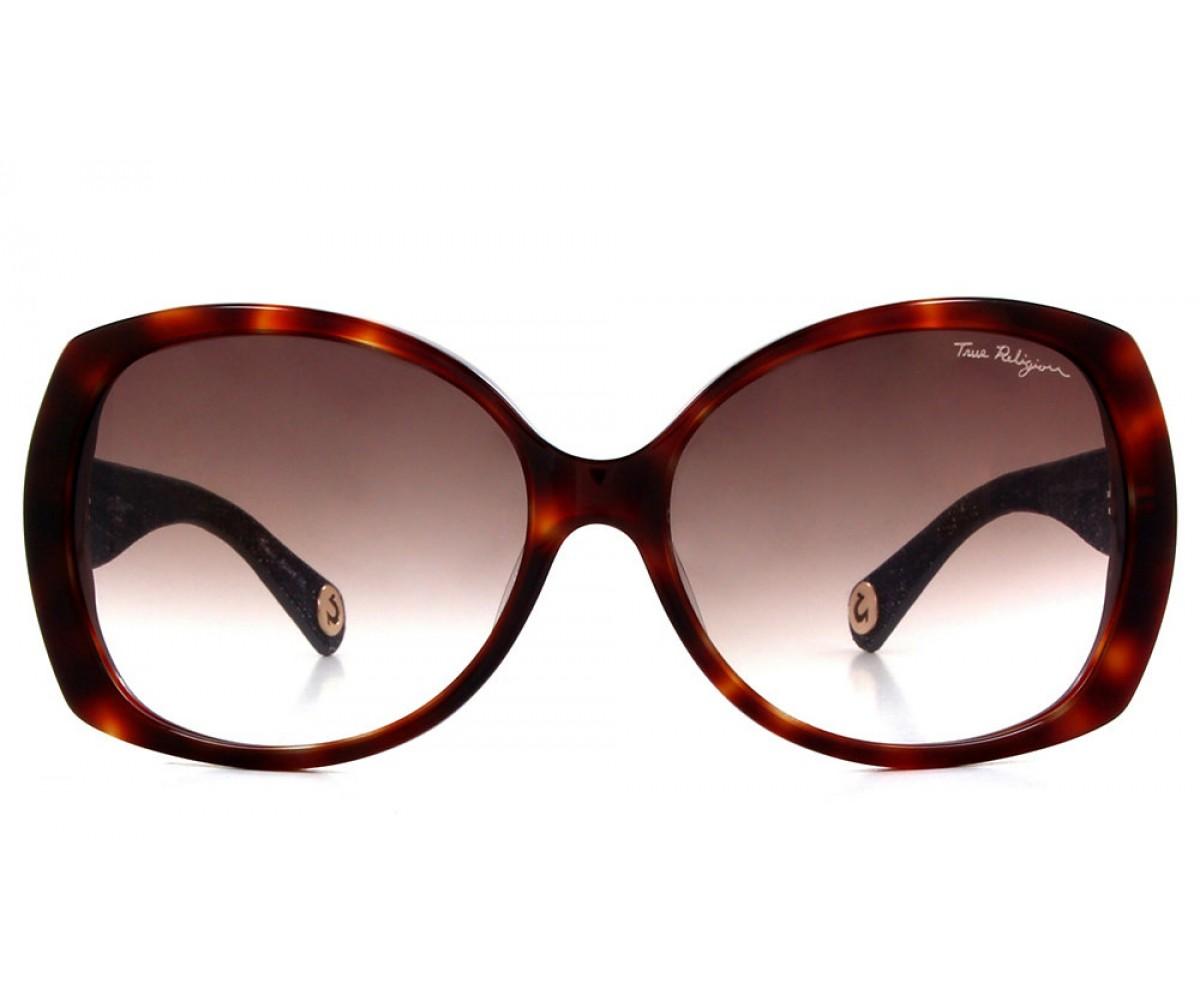 True Religion AVA Sunglasses Amber Tortoise