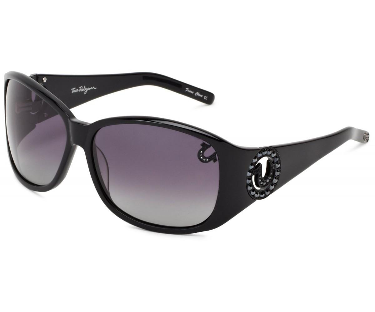 True Religion Georgi Rectangular Sunglasses Black