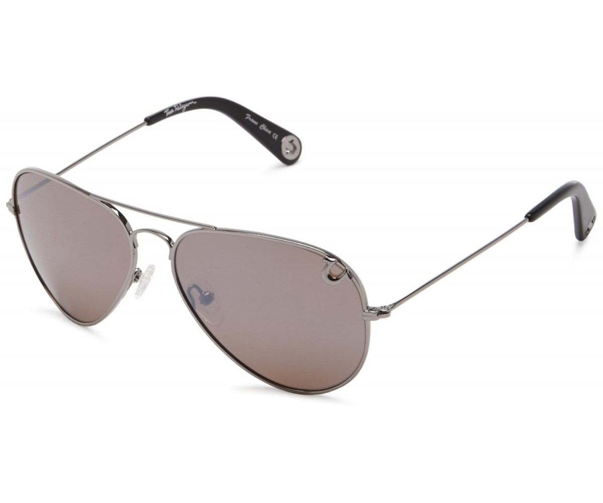 True Religion Jeff-55 Aviator Sunglasses Gun & Rose