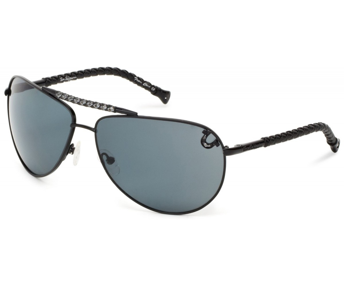 True Religion Jesse Aviator Sunglasses Black