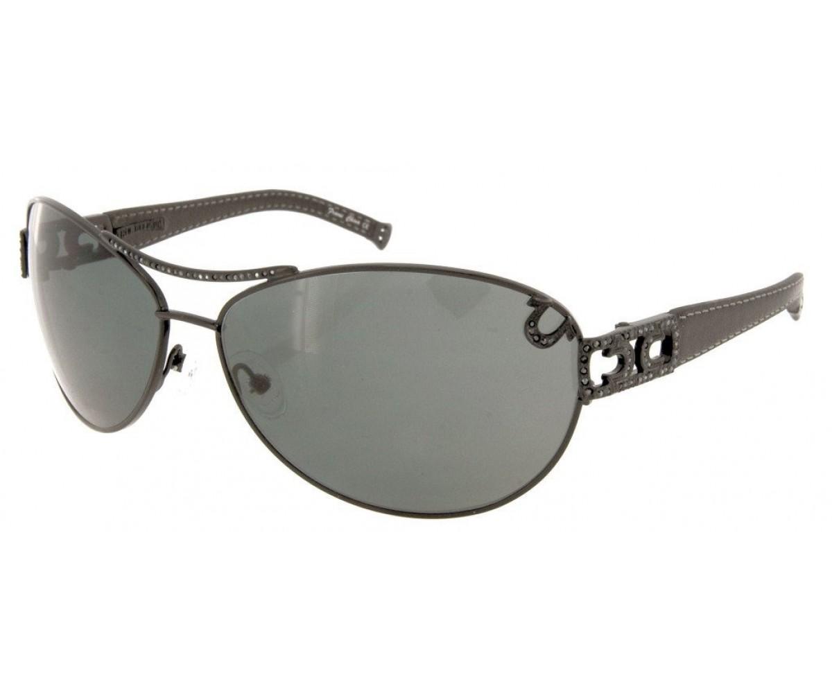 True Religion Sierra Sunglasses Black w/Grey Lens
