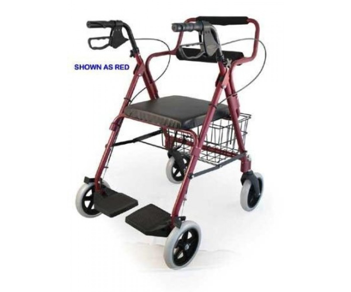 Combination Blue Rollator Amp Transport Wheelchair