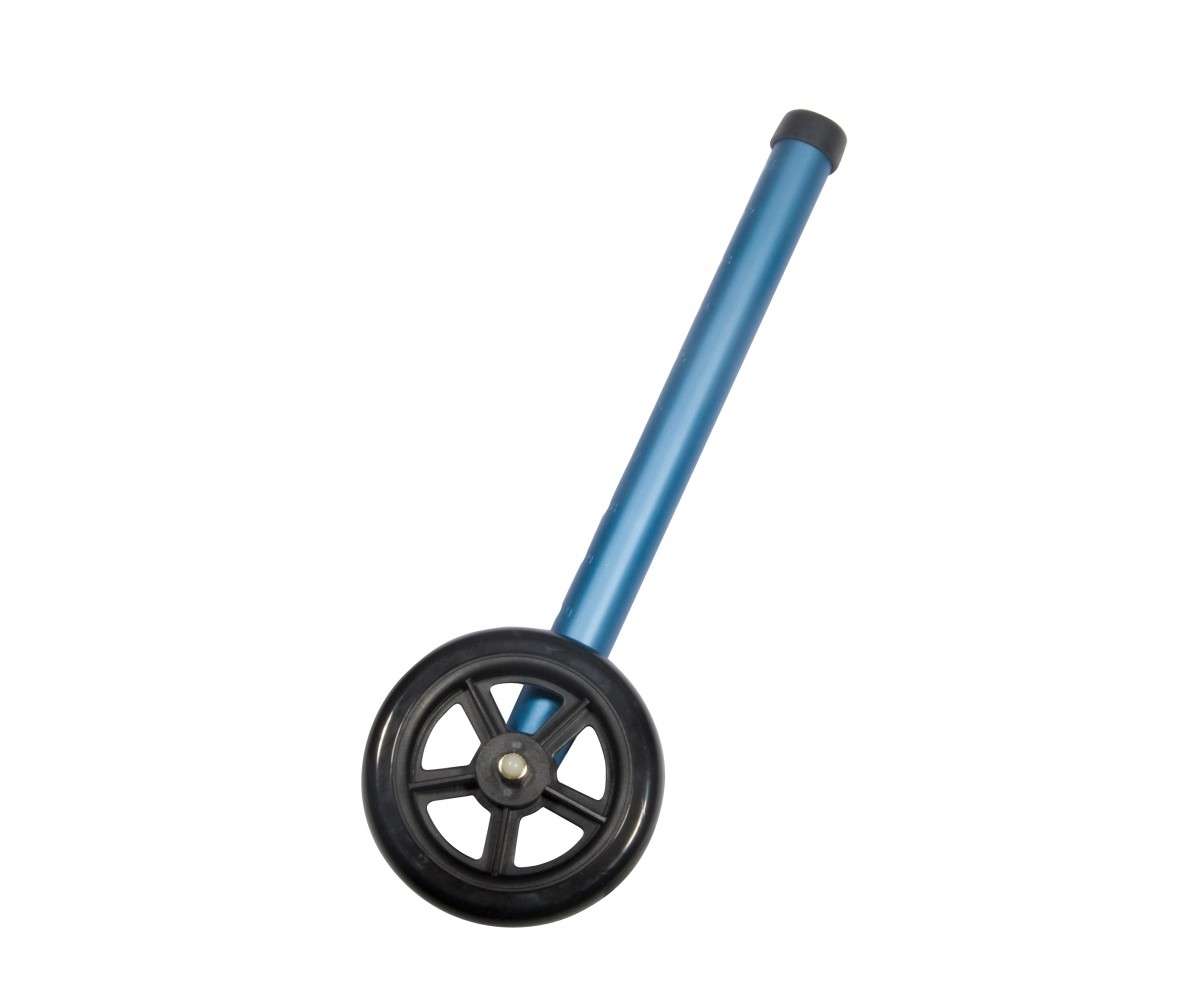 "5"" Blue Walker Wheels with Two Sets of Rear Glides for Use with Universal Walker"
