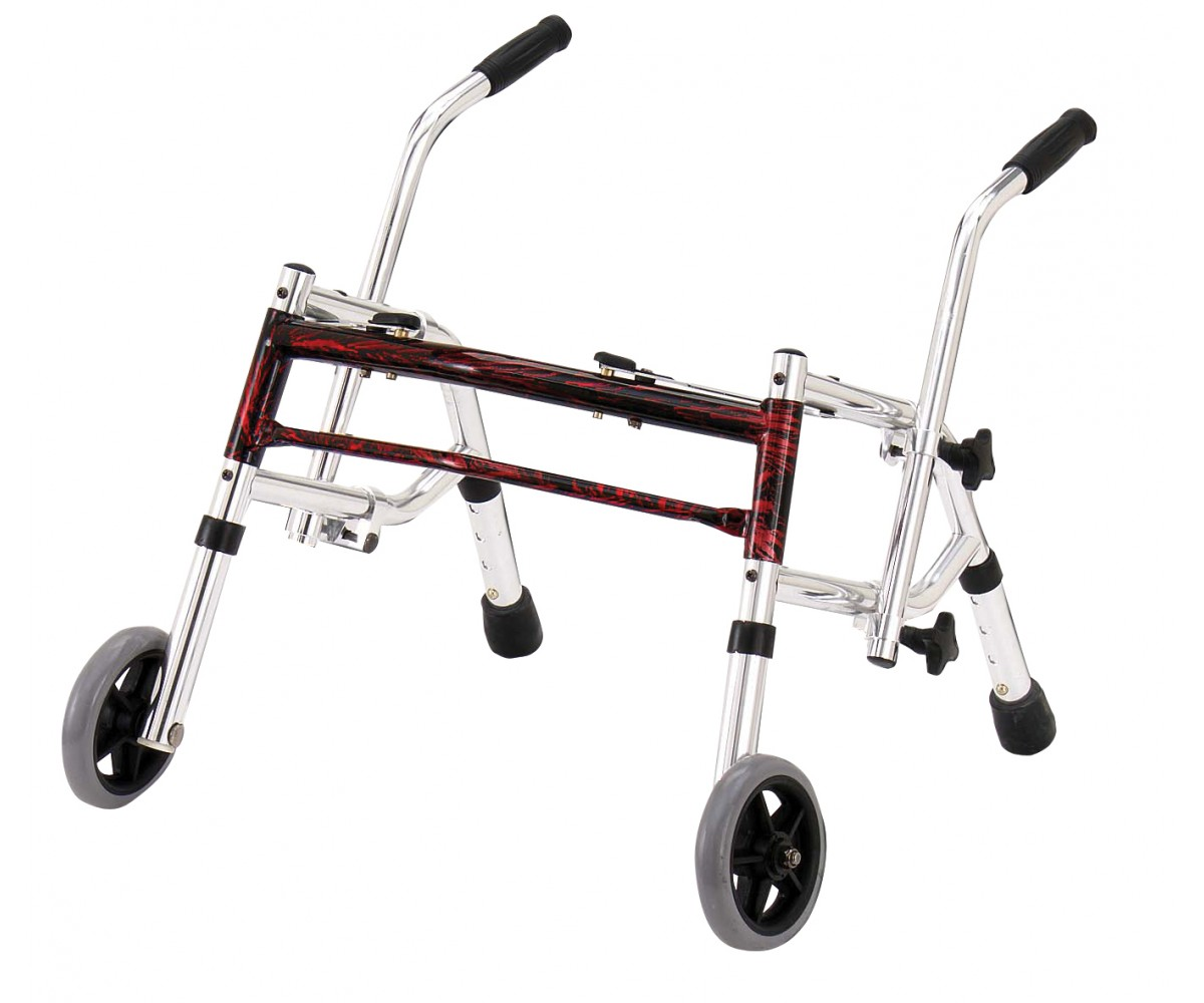 Flame Red Pediatric Glider Walker