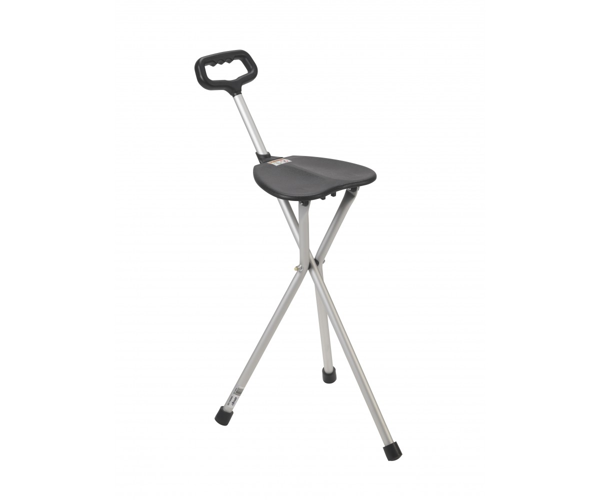 Silver Folding Lightweight Cane Seat
