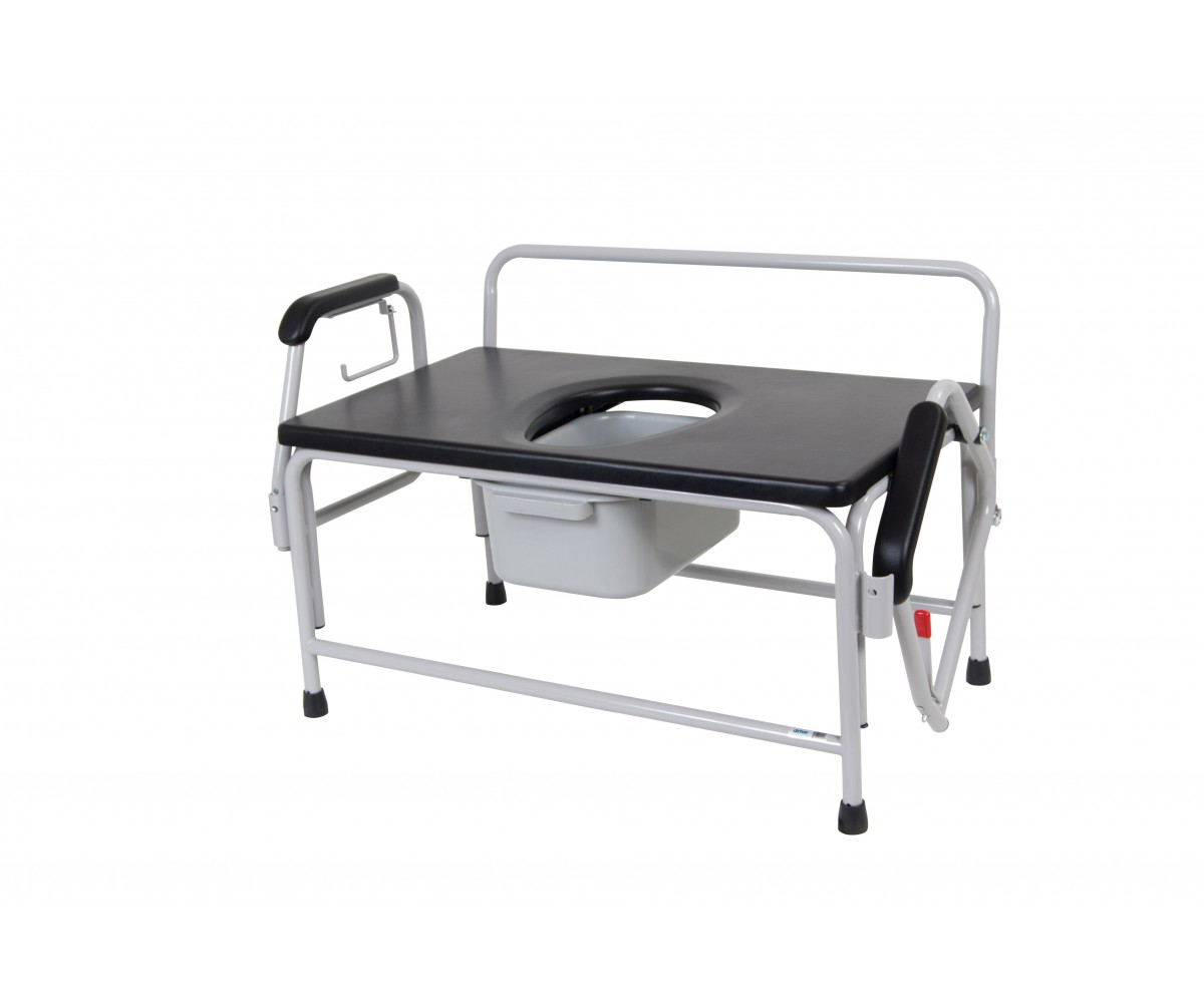 Bariatric Drop Arm Bedside Commode Seat