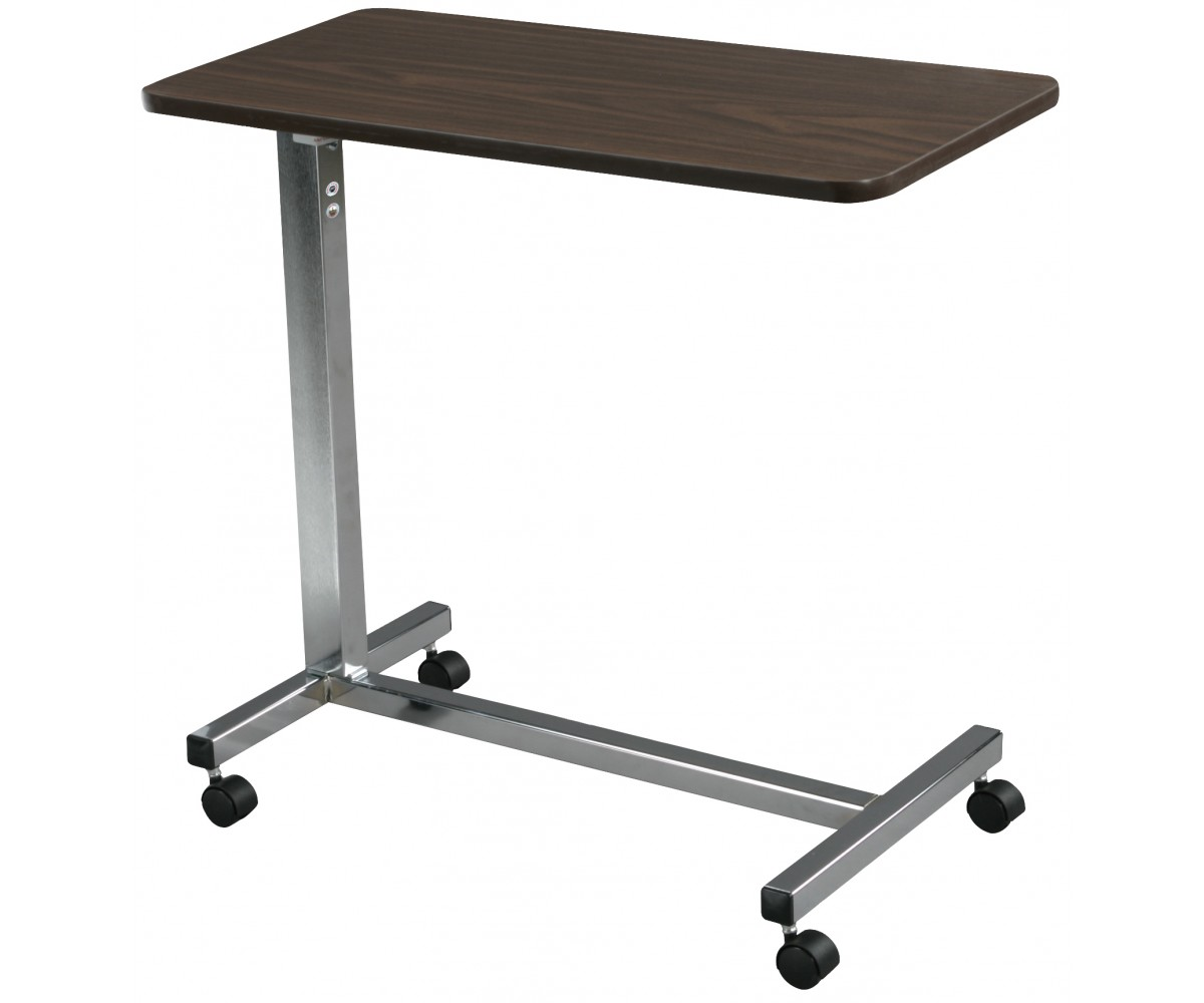 Non Tilt Top Chrome Overbed Table