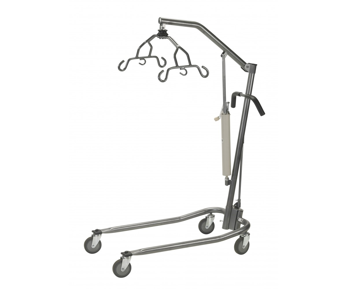 Silver Vein Hydraulic Patient Lift with Six Point Cradle with Casters