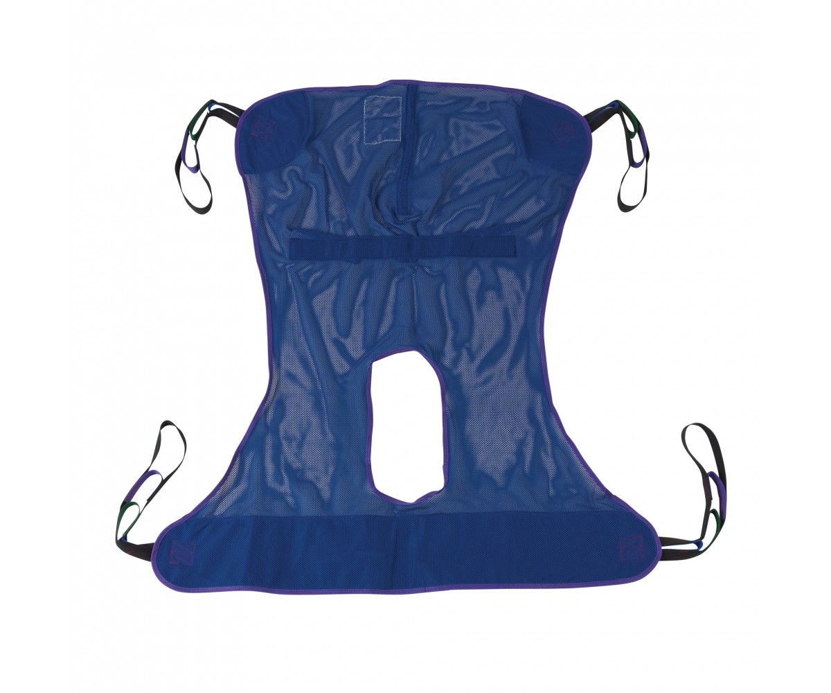 Full Body Patient Lift Sling with Commode Cutout