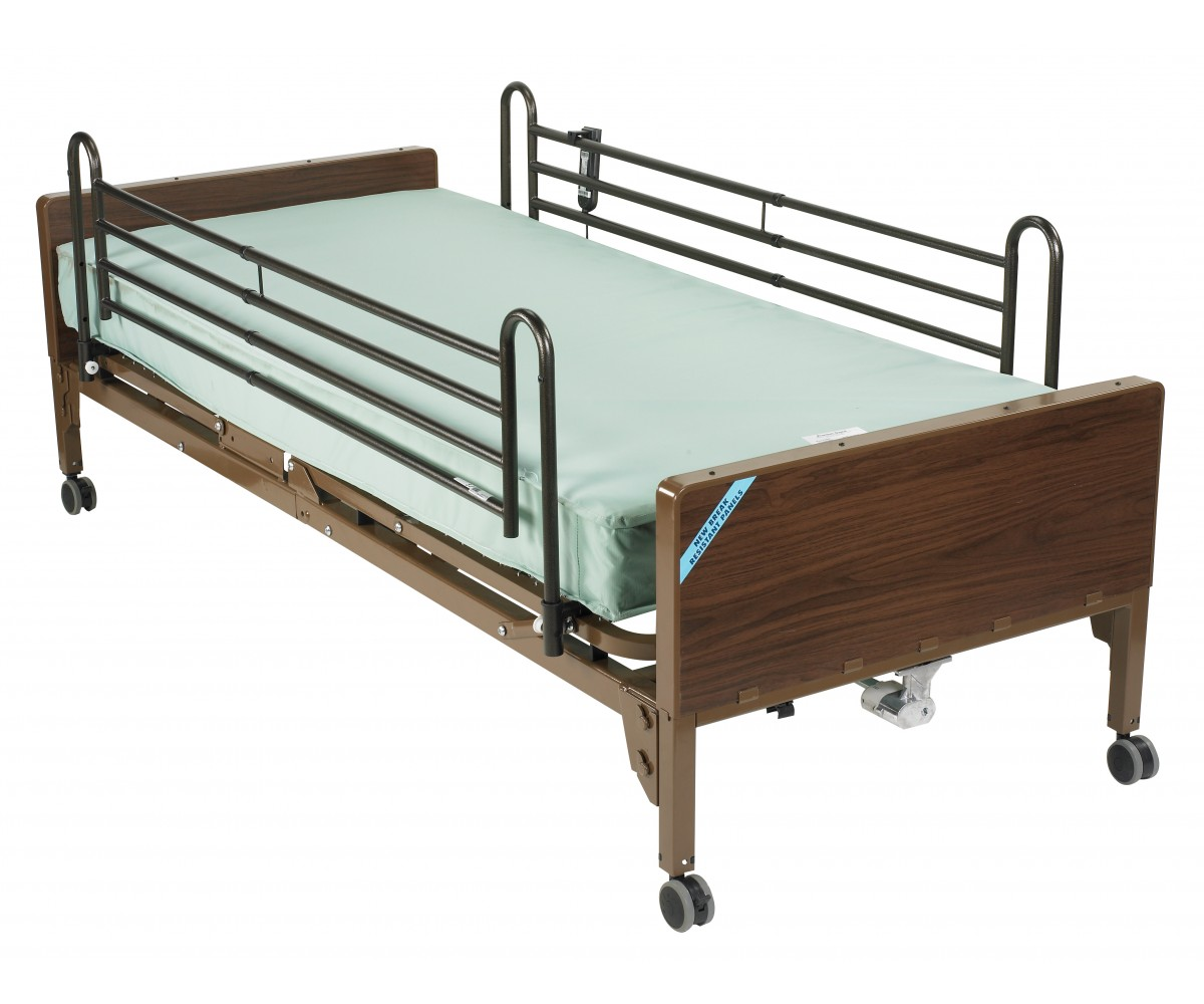 Semi Electric Bed with Full Rails and Innerspring Mattress