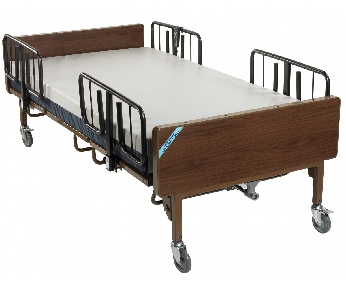 Full Electric Bariatric Hospital Bed with Mattress and T Rails