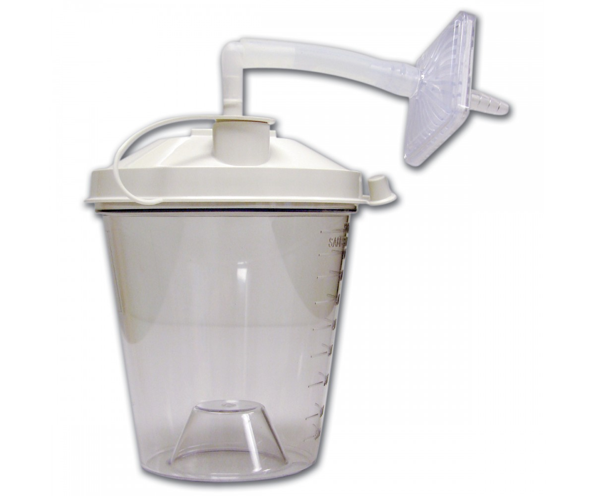 Case of 12 Disposable Suction Canister 800CC