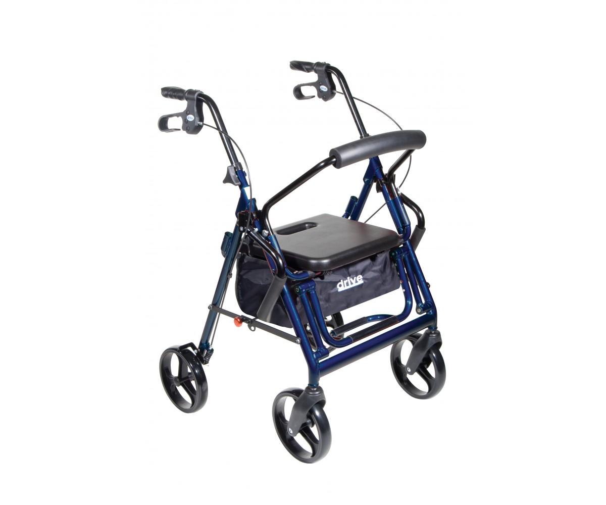 Duet Blue Transport Wheelchair Rollator Walker