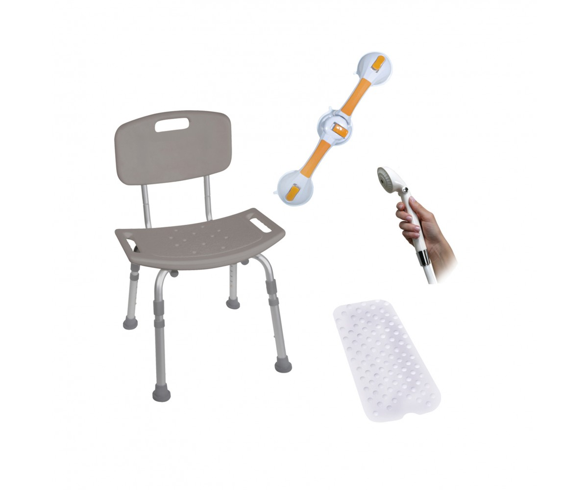 Shower Tub Chair Bathroom Safety Bundle