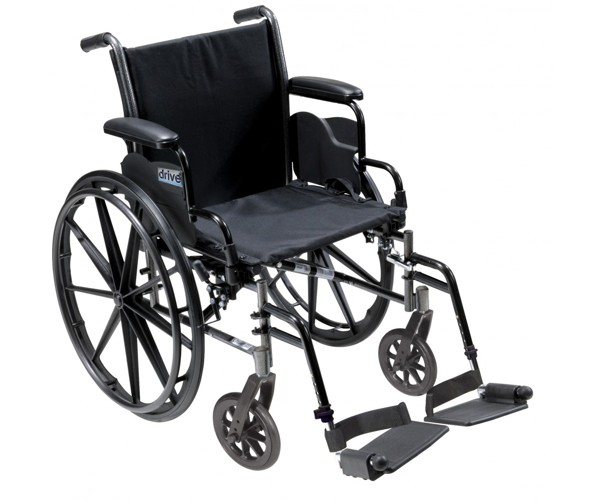 Cruiser III Light Weight Wheelchair with Flip Back Removable Desk Arms and Swing Away Footrest